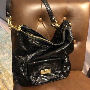 cfabc5103 ... Coach Black Patent Satchel and Cross body Bag ...